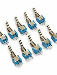 Недорогие -Smts-102 вкл / вкл переменного тока 125 В 6а 2 контакта мини тумблер