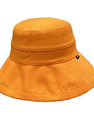 Недорогие -Жен. Классический Шляпа от солнца Хлопок,Однотонный Розовый Оранжевый Хаки