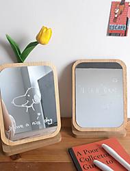 cheap -Nordic style cute wooden makeup mirror student dormitory room portable desktop desktop dressing mirror
