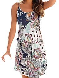 cheap -Women's Gray Dress A Line Geometric Strap S M
