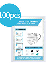 cheap -Face Gasket 100pc Disposable Activated Carbon Filter Replacement Filter Mats Skin-friendly Breathable PM 2.5 Filter for Men Women with Filter Slot