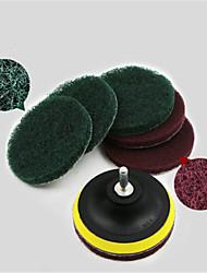 cheap -8 piece set 4 inch electric drill self-adhesive disc wheel polishing sander