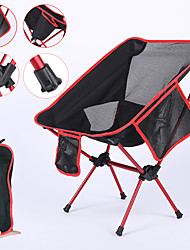 cheap -Camping Chair with Side Pocket Portable Ultra Light (UL) Foldable Comfortable Mesh 7075 Aluminium Alloy for Camping / Hiking Fishing Beach Outdoor Autumn / Fall Spring Orange Blue Red Dark Blue