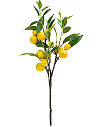 cheap -1 Piece Artificial Lemon Fruit Branch Display Living Room Simulation Plants Decor 20*60cm