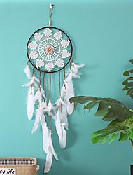 Недорогие -Индийская мечта ловец кулон большая свадьба свадьба белое перо кулон мечта чистый ветер перезвон творческий кулон