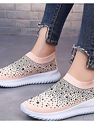 cheap -Women's Athletic Shoes Platform Round Toe Suede Spring & Summer Black / White / Pink