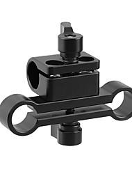 Недорогие -Camvate 15-миллиметровый одностержневой зажим&усилитель; Адаптер с двойным стержневым зажимом с храповой ручкой c2225