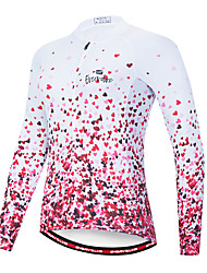 cheap -EVERVOLVE Women's Long Sleeve Cycling Jersey Pink Heart Gradient Bike Jersey Top Mountain Bike MTB Road Bike Cycling Quick Dry Breathable Sports Clothing Apparel / Advanced / Stretchy