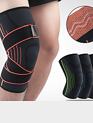 cheap -Knee Brace Knee Sleeve Sporty for Joint Pain and Arthretith Marathon Running Adjustable Anti-slip Strap Joint support Men's Women's Silicon Nylon Spandex Fabric 1 Piece Sports Black+Sliver Black