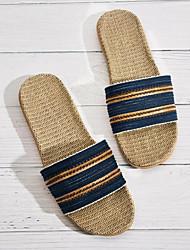cheap -Men's Linen Spring & Summer Casual Slippers & Flip-Flops Non-slipping Brown