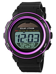 cheap -Sport Watch Japanese Quartz Rubber Black 50 m Water Resistant / Waterproof Chronograph Alarm Clock Digital Outdoor New Arrival - Purple Gold Blue Two Years Battery Life