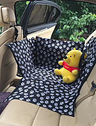 cheap -Dog Rabbits Cat Car Seat Cover Waterproof Foldable Travel Footprint / Paw Oxford Fabric Black