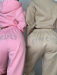 cheap -Women's Jogger Pants Joggers Running Pants Track Pants Sports Pants Stylish Elastane Sports Bottoms Running Fitness Jogging Training Moisture Wicking Butt Lift Tummy Control Solid Colored Vivid Pink