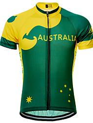 cheap -21Grams Australia Austria National Flag Women's Short Sleeve Cycling Jersey - Green Bike Top UV Resistant Quick Dry Moisture Wicking Sports Summer Terylene Mountain Bike MTB Road Bike Cycling