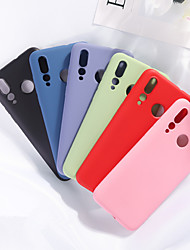 Недорогие -чехол для huawei карта сцены huawei p30 p30 pro p30 lite нова 6 нова 6 se чистый цвет матовый жидкий силикон материал универсальный чехол для мобильного телефона mh