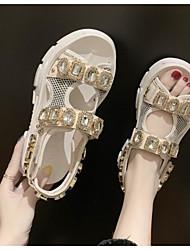 cheap -Women's Sandals Creepers Round Toe PU Summer Yellow / Orange / Black