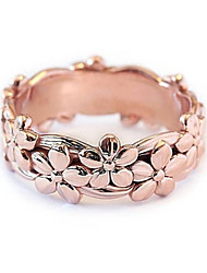 cheap -Women's Ring 1pc Rose Gold Silver Platinum Plated Alloy Stylish Daily Jewelry Flower Cute
