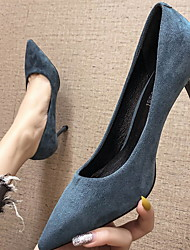 cheap -Women's Heels Stiletto Heel Pointed Toe PU Spring & Summer Black / Burgundy / Blue