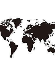 Недорогие -Карта мира наклейки на стены плоскости наклейки на стены декоративные наклейки на стены пвх украшения дома наклейки на стены / окна украшения 1 шт.