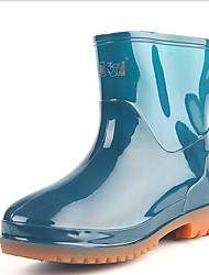 cheap -Men's PVC Spring & Summer Boots Waterproof Booties / Ankle Boots Green / Blue