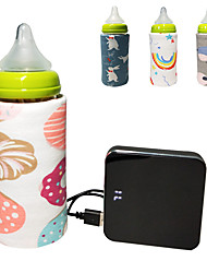 cheap -1pc USB Milk Water Warmer Travel Stroller Insulated Bag Baby Nursing Bottle Heater Random Color