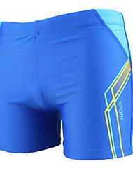 cheap -Men's Plus Size Black Blue Navy Blue Boy Leg Bottoms Swimwear Swimsuit - Geometric One-Size Black