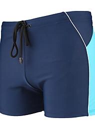 Недорогие -Муж. Синий Красный Темно синий Трусики, шорты и т.д. Купальники купальник - Контрастных цветов Один размер Синий