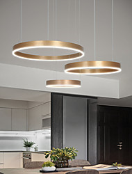 cheap -3 Rings LED Circle Pendant Light Gold Chandelier Luxury Modern Fashion Painted Aluminum Circle Lighting for Dinning Room Living Room 90W