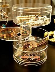 Недорогие -4-слойный прозрачный пластиковый вращающийся шкатулка для драгоценностей серьги с кольцами для хранения ювелирных изделий многофункциональная стойка для хранения сережек