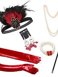 cheap -Outfits The Great Gatsby Elastic Freshwater Pearl For The Great Gatsby Cosplay Halloween Carnival Women's Women Costume Jewelry Fashion Jewelry / Gloves / Cigarette Stick / Gloves / Earrings