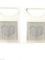 cheap -Onion Vegetables Slicer Cutting Tomato Slicer Cutting Aid Holder Guide Slicing Cutter Safe Fork Onion Cutter Kitchen Accessories