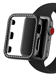 cheap -Carbon Fiber PC Case Protective Frame For Apple Watch 5 4 3 2 1 iWatch Cover 38MM 42MM 40MM 44MM Bumper Watch Band Accessories