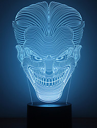cheap -1Pc Usb Power Abstract Art 3D Lights Colorful Touch Gradient Vision Night Lights Colorful 3D Acrylic Table Lamp