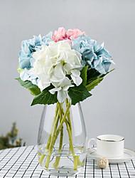 Недорогие -1 шт. Искусственные гортензии свадебные украшения сухой шелк цветок украшения один поддельный букет цветов