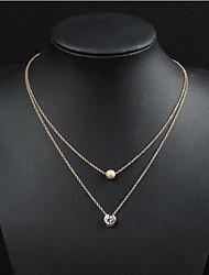 cheap -Women's Men's Pendant Necklace Classic Flower Fashion Chrome Gold 50 cm Necklace Jewelry For