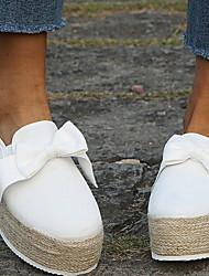 cheap -Women's Loafers & Slip-Ons Flat Heel Round Toe PU Summer Yellow / Pink / White