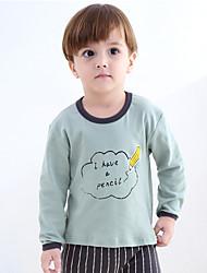 cheap -2 Piece Kids Toddler Boys' Active Basic Fantastic Beasts Striped Floral Color Block Monogram Stylish Stripe Sleepwear Black