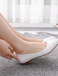 cheap -Women's Flats Flat Heel Pointed Toe PU Casual / Minimalism Spring & Summer / Fall & Winter White