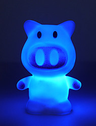 cheap -Lovely Colors Changing LED Cartoon Pig Night Light Decoration Candle Lamp Nightlight Great Gift for Kids Bedroom Crafts