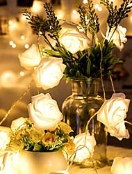 cheap -LED Rose Lantern String Lantern Valentine'S Day New Year Decoration Light Girl Heart Room Birthday Arrangement Confession Light String