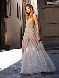 cheap -Women's Maxi Beige Dress A Line Solid Color Strap S M