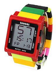 cheap -Kids Sport Watch Quartz Rubber Black / Blue / Red 30 m Water Resistant / Waterproof Chronograph New Design Digital Outdoor New Arrival - Black Red / Yellow Yellow One Year Battery Life