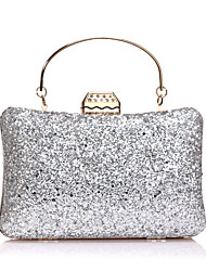 cheap -Women's Bags Polyester Evening Bag Sequin Chain Solid Color Wedding Bags Wedding Party Event / Party Black Blue Blushing Pink Champagne