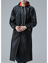 cheap -Men's Hooded Coat Long Solid Colored Daily Long Sleeve Black US42 / UK42 / EU50