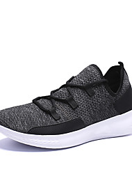 cheap -Men's Mesh Summer / Spring & Summer Sporty / Casual Athletic Shoes Running Shoes Breathable Black / Wine / Dark Blue
