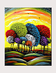 cheap -Impressionist Trees Painting Canvas Oil Painting Abstract Islamic Art Crafts Room Decoration