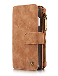cheap -CaseMe Multifunctional Magnetic Luxury Business Leather Flip Phone Case For iPhone 8 / 7 / 6 / 6s / 8 Plus / 7 Plus / 6 Plus With Wallet Card Slot Stand Detachable Case Cover