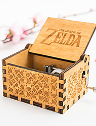 cheap -Music Box Musical Jewellery Box Wooden Music Box Antique Music Box Holiday Retro Creative Unique Wooden Women's All Girls' Kid's Adults Child's Adults' 1 pcs Graduation Gifts Toy Gift