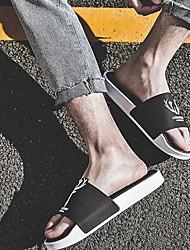 cheap -Men's PVC Spring & Summer Casual Slippers & Flip-Flops Breathable Black