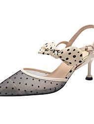 cheap -Women's Heels Mesh Stiletto Heel Pointed Toe Suede Spring & Summer Almond / Black / Daily / 3-4
